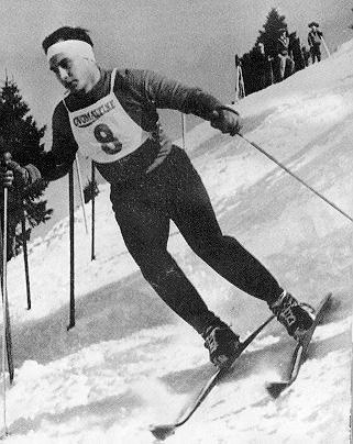 His Highness the Aga Khan Skiing for Great Britain in the Alps -1960