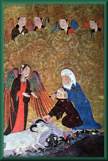 Prophet Ibrahim sacrifies his son Ismail