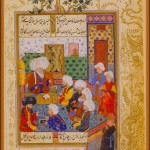 Shaikh al-Islam Discoursing with an Audience Page from Divan of Mahmud Abd al-Baki, 1590–95 Ottoman