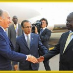 His Highness the Aga Khan arrives in Entebbe