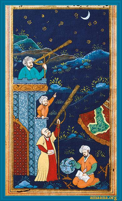 Muslim Astronomers Ottoman painting 17century