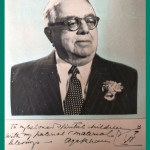 Aga Khan III autographed photo
