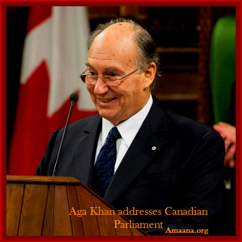 Aga Khan Addresses Parliament of Canada Feb 27 2014 Amaana.org