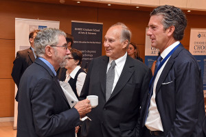 Aga Khan with NYtimes President and Paul Krugman Athens 9-15-2015 - Amaana.org