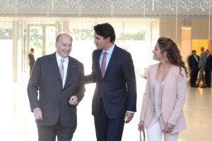 AgaKhan and Prime Minister Justin Trudeau and his wife - Amaana.org