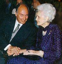 Mowlana Hazar Imam with Mata Salamat June 1997