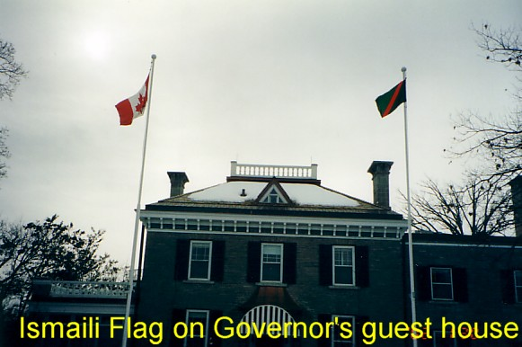 Ismaili Flag on the Governor's guesthouse - Ottawa, Canada
