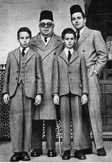 Aga Khan III with son Prince Aly Khan and Grandsons Mowlana Shah Karim al Hussayni Hazar Imam, the Aga Khan IV and Prince Amyn