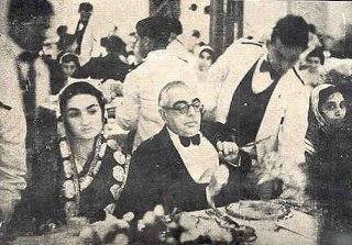 Mowlana Sultan Mahomed Shah with Princess Azam Jah - Deccan